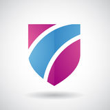 Logo Icon de un ejemplo rayado del vector del escudo ilustración del vector