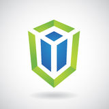 Logo Icon de un ejemplo rectangular del vector del cubo libre illustration