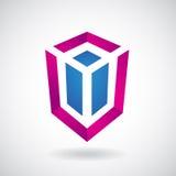 Logo Icon de un ejemplo rectangular del vector del cubo stock de ilustración