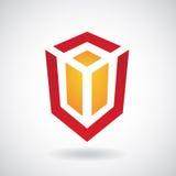 Logo Icon de un ejemplo rectangular del vector del cubo ilustración del vector