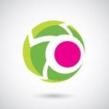 Logo Icon de un ejemplo redondeado del vector de la flecha stock de ilustración