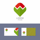 Logo Icon design element with business card template Stock Image