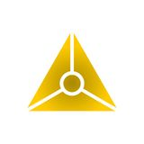 Logo, Icon design element, company name Stock Image