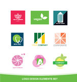 Logo icon design elements set Royalty Free Stock Images
