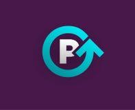 Logo Icon Design Template Element im Vektor-Buchstaben Lizenzfreies Stockfoto