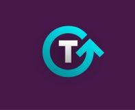 Logo Icon Design Template Element im Vektor-Buchstaben Lizenzfreies Stockbild