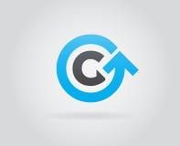 Logo Icon Design Template Element nella lettera di vettore Fotografie Stock