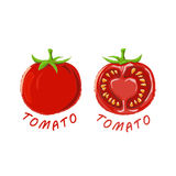 Logo Icon Design Tomato Farm stock afbeeldingen
