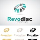 Logo Icon di giro lucido rotondo verde e nero Fotografie Stock Libere da Diritti