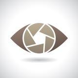 Logo Icon di un'illustrazione di vettore dell'occhio dell'otturatore Fotografie Stock