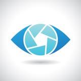 Logo Icon di un'illustrazione di vettore dell'occhio dell'otturatore Immagini Stock