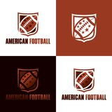 American Football Icon and Logo - Vector Illustration royalty free stock photography
