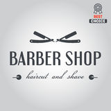 Logo, icon or logotype for barbershop Stock Photography