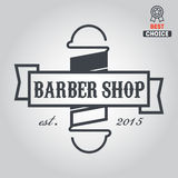 Logo, icon or logotype for barbershop Stock Image