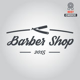 Logo, icon or logotype for barbershop Stock Images