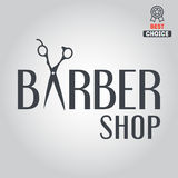 Logo, icon or logotype for barbershop Royalty Free Stock Images
