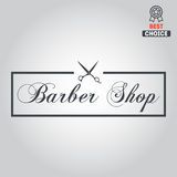 Logo, icon or logotype for barbershop Royalty Free Stock Photography