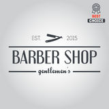 Logo, icon or logotype for barbershop Stock Photo