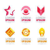 Logo icon pink and orange Stock Images