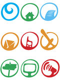 Logo icon set Royalty Free Stock Photo