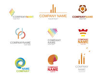 Logo icon set Royalty Free Stock Photography