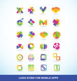 Logo icon set elements for apps Stock Image