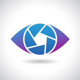 Logo Icon of a Shutter Eye Vector Illustration Stock Photo