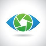 Logo Icon van een Vectorillustratie van het Blindoog Stock Foto