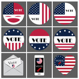 Logo and icon vote for presidential of USA Royalty Free Stock Photos
