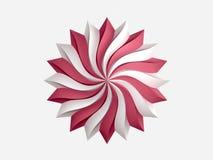 Logo iconico circolare nel fondo bianco Fotografia Stock