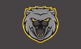 Logo iconique d'esport de Wildkatz unique Photos libres de droits
