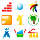 Logo icons Royalty Free Stock Image