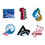 Logo Icons. Logo set for US brands and businesses Stock Image