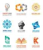 Logo icons set for company identity branding like smart ideas. Housing and real estate  in white background. Vector illustration Stock Photos