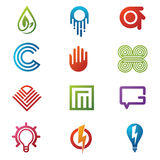 Logo and icons vector. Collection of corporate logo elements and icons Stock Images