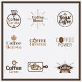 Logo ideas, Label, set for restaurant menu design. Stock Images