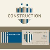 Logo and identification of a construction company Stock Photo