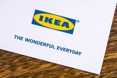 Logo Ikea Company Lizenzfreie Stockfotografie