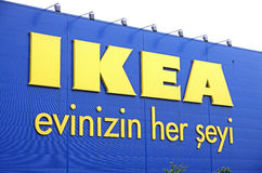 Logo IKEA sklep w Istanbuł Obraz Royalty Free