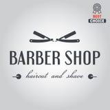 Logo, ikona lub logotyp dla zakładu fryzjerskiego, ilustracja wektor