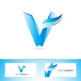 Logo-Ikonensymbol des Buchstaben V Stockfoto
