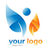 Logo illustration Royalty Free Stock Photo