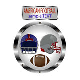 Logo illustration for American Football Royalty Free Stock Photography