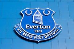 Logo im Goodison-Parkstadion, Haus von Everton Football Club Lizenzfreie Stockbilder