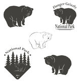 Logo with the image of a bear Royalty Free Stock Photography