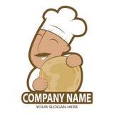Logo Indian Chef, illustrazione indiana di vettore di cucina sul isolaed su Illustrazione di Stock
