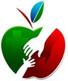Logo infantile de soin Photographie stock libre de droits