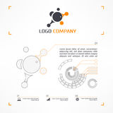 Logo and infographic Royalty Free Stock Photography