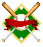 Logo initial de base-ball Images libres de droits