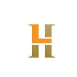 Logo initial 7 de main gauche de vecteur Images libres de droits